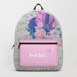 """VIOLIN by collection """"Music"""" Backpack"""
