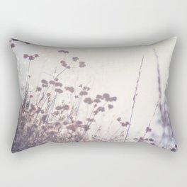 Wintry Hillside Plants Rectangular Pillow