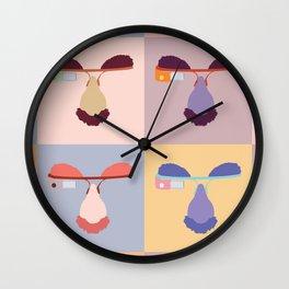 Giggle Glass Color Wall Clock