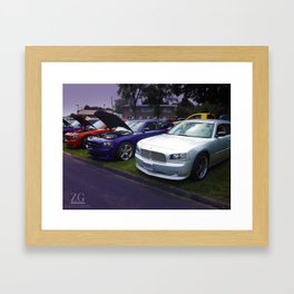 Charging Chargers Framed Art Print