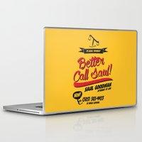 better call saul Laptop & iPad Skins featuring Better Call Saul by Krikoui