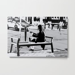 Busking - Guitar Player Metal Print