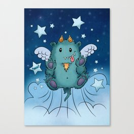 Twinkle Toes the Happy Chaos Monster Canvas Print