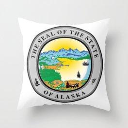 Seal of the state of Alaska Throw Pillow
