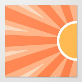 Shiny Sun Canvas Print