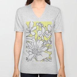 Flower Meadow Yellow Unisex V-Neck