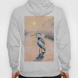 Great Blue Heron at Sunset Hoody