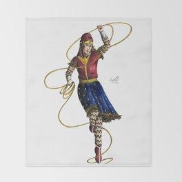 Scythian Woman of Wonder Throw Blanket