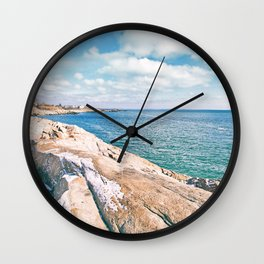 Narragansett Rocks Wall Clock
