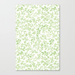 Leaves and Berries | Original Greenery Palette Canvas Print