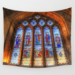 Bath Abbey Stained Glass Window Wall Tapestry