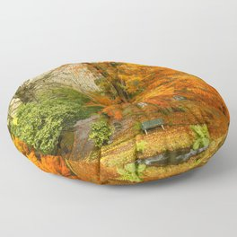 Willow in Autumn colors Floor Pillow