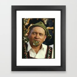 Strange Portrait Framed Art Print