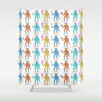 stanley kubrick Shower Curtains featuring Stanley duvet by Caravan Tshirts