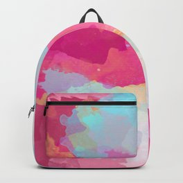 Colorful Abstract - pink and blue pattern Backpack