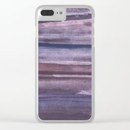 Violet brown streaked watercolor Clear iPhone Case