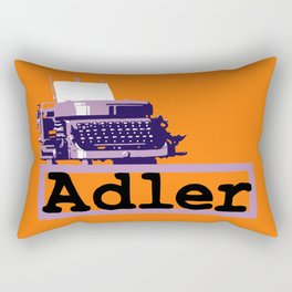 Adler Typewriter Rectangular Pillow