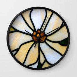 Glass flower Wall Clock