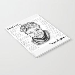 Still I Rise Print Maya Angelou Poem Notebook