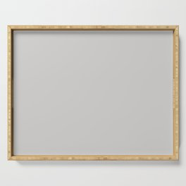 Solid Pale Gray Goose Color Serving Tray