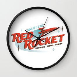 Red Rocket Wall Clock