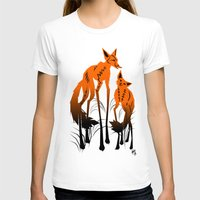 foxes T-shirts featuring Foxes by AmKiLi