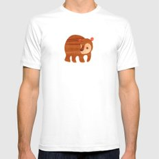 Beary cute Mens Fitted Tee SMALL White