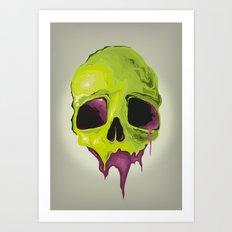 Liquid Skull Art Print