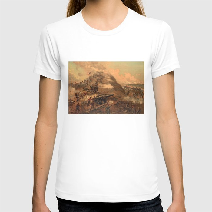 Civil War Capture of Fort Fisher by J.O. Davidson T-shirt