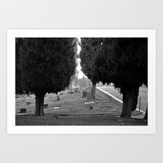 Headstone View Art Print