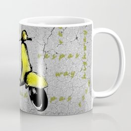 Yellow Vespa Scooter Coffee Mug