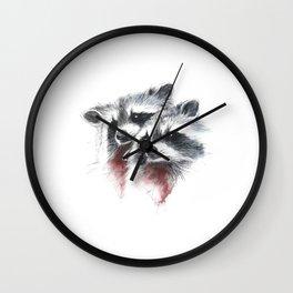 Raccoons I Wall Clock
