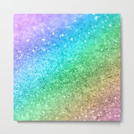Rainbow Princess Glitter #1 (Photography) #shiny #decor #art #society6 Metal Print