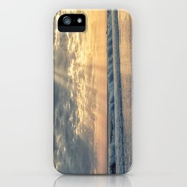 Rays From Above sun rays on Cayucos Beach iPhone Case