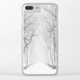 Snowy Park Clear iPhone Case
