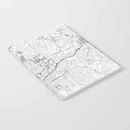 Atlanta White Map Notebook