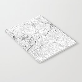 Atlanta White Map Notebook