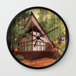 Tahoe Cabin Wall Clock