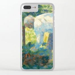 """Georges Seurat """"The Gardener"""" Clear iPhone Case"""