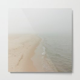 Where the Surf Meets the Sand | Muskegon, MI Metal Print