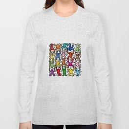 Homage to Keith Haring Acrobats II Long Sleeve T-shirt