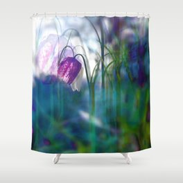 Chequered lily with its magical spirit Shower Curtain