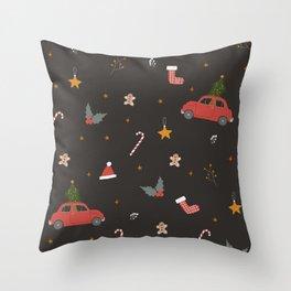 Ho Ho Ho Happy Holidays! Throw Pillow
