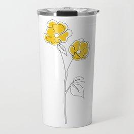 Mustard Bloom Travel Mug