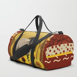 Frame Design yellow Sheep Duffle Bag