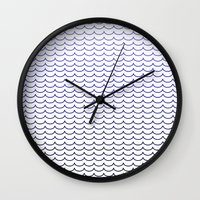 gradient Wall Clocks featuring Gradient  by Shelby Thompson
