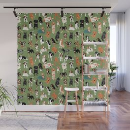 Hound District green Wall Mural