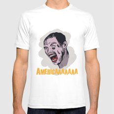America Mens Fitted Tee MEDIUM White