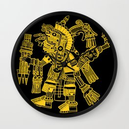Ancient Mexican Design 2 Wall Clock
