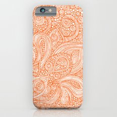 Orange doodles iPhone 6 Slim Case